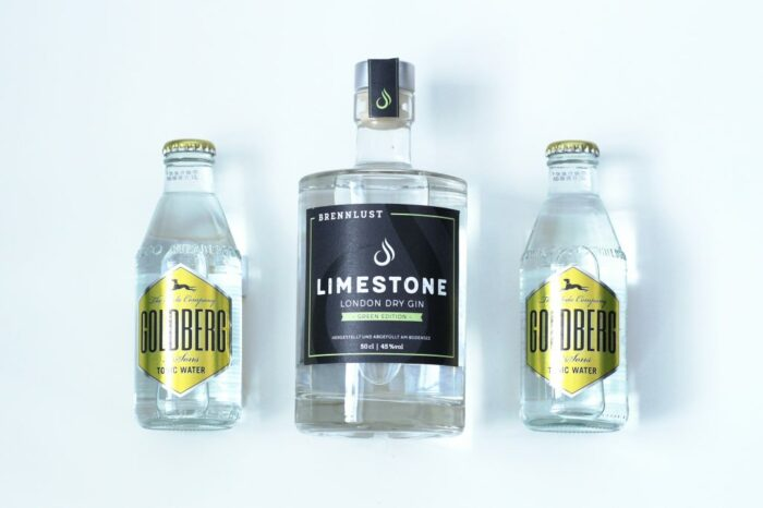BRENNLUST Geschenkset Gin Green Edition 50cl mit Golberg & Sons Tonic Water