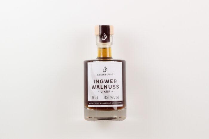 BRENNLUST Mini Ingwer-Walnuss Likör 5cl