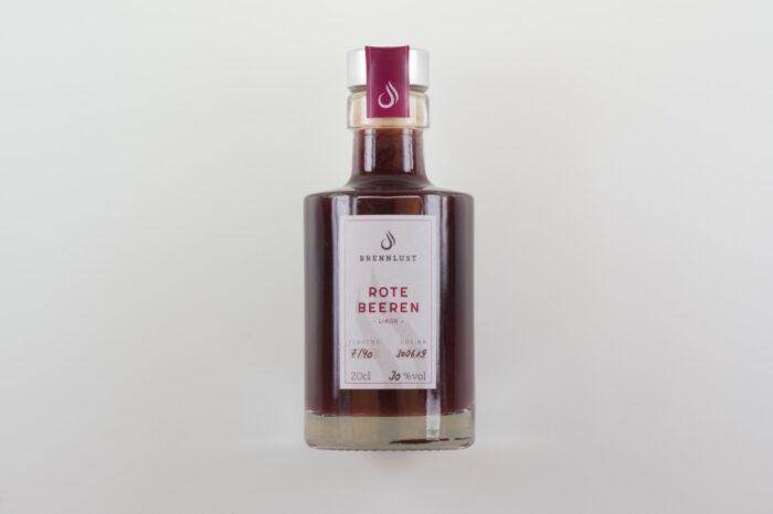 Produkt, Rote Beeren Likör, Brennlust, Stockach