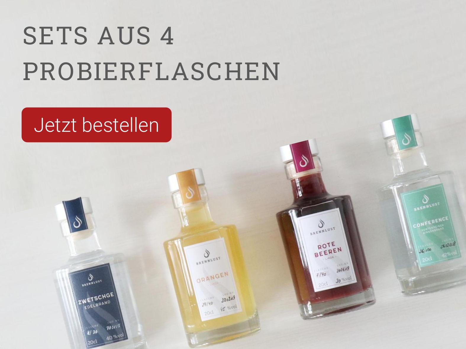 Brennlust Destillerie & Events - Probierflaschen á 20 cl