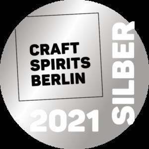 Silber Medaille für Brennlust von Craft Spirits Berlin 2021
