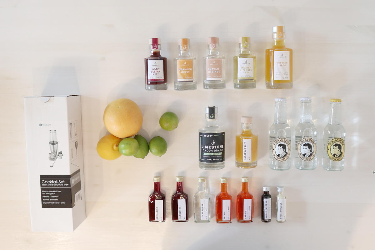 Online Cocktailkurs - Set Maxi