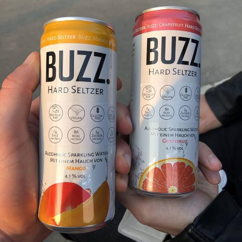 Blog-Beitrag: Beispiel eines Hard Seltzers: Buzz